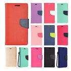 For Samsung Galaxy J3 Emerge Premium Leather 2 Tone Wallet Case Pouch Flip Cover
