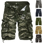 NEW Fashion Mens Cargo Pants Shorts Trousers Casual Military CAMO Combat Army /
