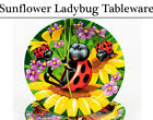 Sunflower Ladybird Tableware - Plates, Napkins, Cups, Tablecover