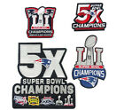 NEW ENGLAND PATRIOTS 5X SUPER BOWL CHAMPIONS SUPERBOWL 51 JACKET PATCH PINS GIFT