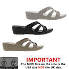 Crocs Sanrah Strappy Wedge Womens Heel Sandals Shoes Size UK 4-8