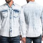 AFFLICTION Men Embroidered Button Down Shirt TAKE A SWING Biker UFC Roar BKE $88
