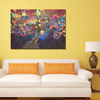 Trippy Abstract Light  Tree Lager Image Poster  Home Wall Decor Art Silk Cloth