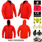 Men Motorbike Water Repellent Hoodie With Fully Protective Lining And CE Armour