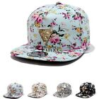 Fashion Floral Flower Snapback Hip-Hop Hat Flat Peaked Adjustable TXCL01