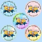 24 Personalised Minion Birthday Party Thank You Sweet Cone Stickers Label Seals