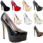 LADIES WOMENS PLATFORM PEEP TOE PARTY STILETTO HIGH HEEL COURT SHOES PUMPS SIZE