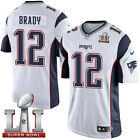 Tom Brady New England White/Navy Blue Game Jersey