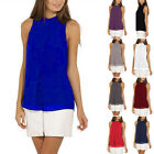 NEW Casual Women Round Neck Chiffon Shirt Tops Summer Vest Blouses PLUS SIZE