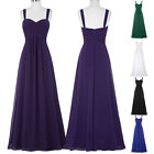 Elegant Women's Long Sleeveless Prom Formal Ball Gown Bridesmaid Evening Dress