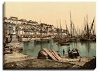 Canvas Print Of brixham, from the harbor