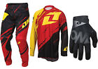 ONE INDUSTRIES VAPOR LITE MOTOCROSS KIT COMBO PANTS JERSEY GLOVES SIDESWIPE RED