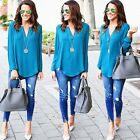 Fashion Women Blouse Chiffon Long Sleeve Ladies T Shirt Casual Loose Shirt Tops