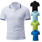 New Men's 100% Cotton Tee Short-Sleeved T-Shirt Fashion Solid Slim Casual Tops