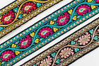 "01Yd Jacquard Trim 1.20"" (3.04 CM)Wide Woven Border Ribbon Sew Embroidered T165"