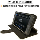 Flip Wallet Case For iPhone 7 / 7 Plus-Card Holder+Stand-Cheetah Print