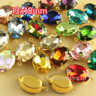 20 13x18mm oval Framed Glass Pendants Beads Earrings Necklace Findings Connector