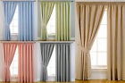 BLACKOUT Self Lined Tape Top Curtains With Spot Design Kids / Childrens Bedrooms