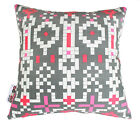 MOSAIC FLAMINGO PINK GREY SCATTER CUSHION COVER DECORATIVE SOFA PILLOW 36cm SALE