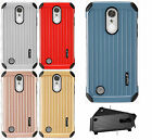 For LG Phoenix 3 Rubber IMPACT CO HYBRID Case Skin Phone Cover +Screen Protector