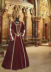 Renaissance Costume Victorian Style Dress Fur clothing brown noblewoman handmade