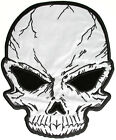Embroidered Reflective Skull Large Back PATCH