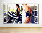 Q951 Treadmll Gym Exercise Fitness Window Wall Decal 3D Art Stickers Vinyl Room