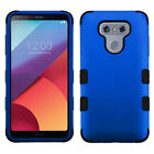 For LG G6 Rubber IMPACT TUFF HYBRID Case Skin Phone Cover + Screen Guard