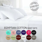 1000TC Soft Egyptian Cotton Flat Fitted Sheet Set Single/Double/Queen/King Size