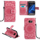 For Samsung Galaxy Phones Flip Flower Pattern Strap PU Leather Wallet Case Cover