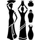 African Ladies 190 micron Mylar Stencil high quality- A5 - A4 - A3 ***NEW***