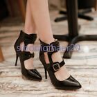 Stylish Style Women Pointy Toe Stilettos High Heels Sexy Party Shoes Plus Size