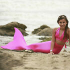 3PCS Girl Kids Mermaid Tail Swimmable Bikini Set Bathing W  Mermaid Tail Monofin