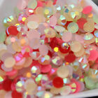 1000-10000p ss6 ss12 ss16 Jelly mixed color resin FlatBack Rhinestones nail art