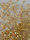 Sequins 5mm Flower Champagne Beige Crystal Gold Iridescent Cup Choose Pack Size