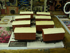 GRAHAM FARISH GRAFAR 00 GAUGE WAGONS X 8 BOX  VANS WHITE ROOFS