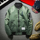 Fashion Men's Air Jacket MA1 Army Flight Bomber Jacket Coat Smiling face Outwear