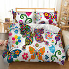 Butterfly Duvet Quilt Doona Cover Set Single/Queen/King Size Pillowcases Animal