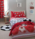 Kids Football Red Duvet Cover Quilt Set, Single Double