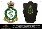 Royal Army Medical Corps Embroidered Black Denim and Leather Sleeveless Vest