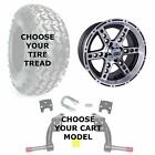 "Club Car Jake's 6"" Golf Cart Lift Kit, 23"" Tire, and 14"" Dominator Wheel Combo"