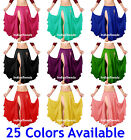 2 Layer 2 Front Slits Skirts Chiffon Full Circle Belly Dance Tribal Reversible