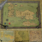 The Song of Ice and Fire Game of Thrones Map Vintage Retro Decorative Frame P...
