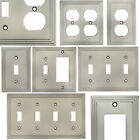 Satin Nickel Switch Wall Plate Duplex GFCI Rocker Decora Switchplate Outlet