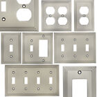 Внешний вид - Satin Nickel Switch Wall Plate Duplex GFCI Rocker Decora Switchplate Outlet