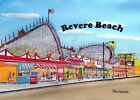 Revere Beach Boulevard Amusement Park Art Print Wonderland Cyclone Boston Gift