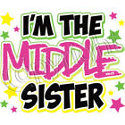 I'm the Middle Sister Neon Pink Print T Shirt Kids Infant Tee