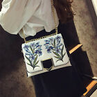 New Durable Women's Cross Body Embroidery Shoulderbags Handbag Mini Chain Bag