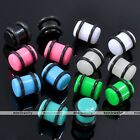 18PCS Mixed 14g-00g Acrylic Ear Plug Tunnel Expander Piercing Jewelry Earring