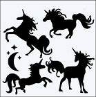UNICORNS 190m MYLAR RE USEABLE FLEXIBLE STENCIL WITH INNER BITS - 8 X 8